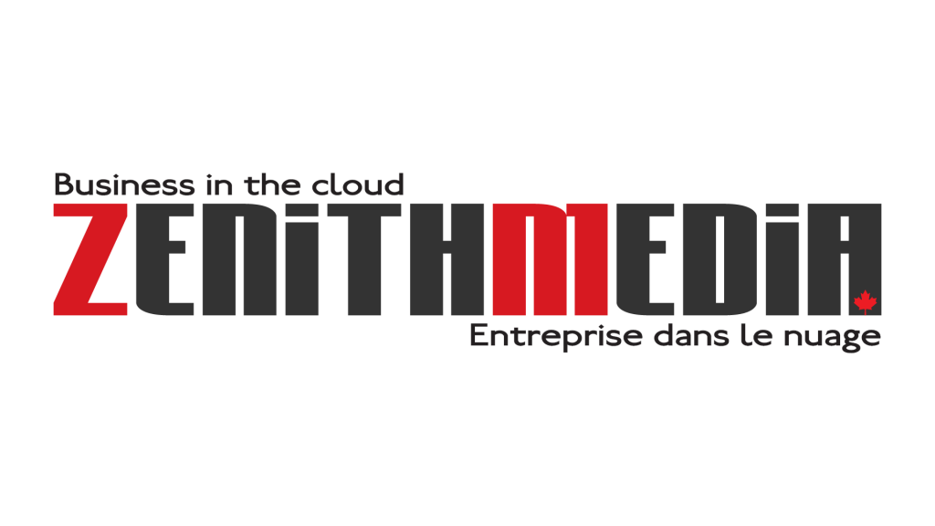 Zenith Media Canada Company Logo with Slogan; Business in the cloud